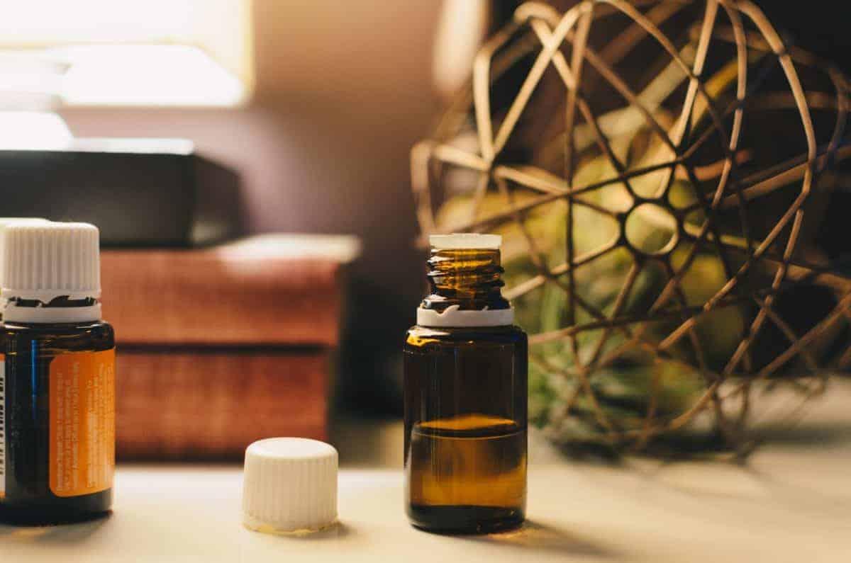 I make a homemade synergy blend essential oils for my bathrooms.